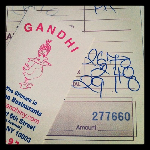TCG Eats:  Gandhi, East Village NYC