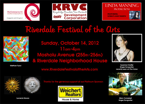 This Weekend:  RIverdale Festival of the Arts
