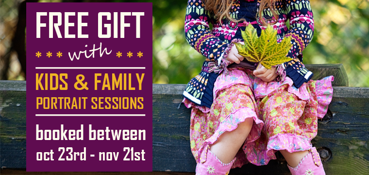 Kids & Family Portrait Sessions + FREE Gift