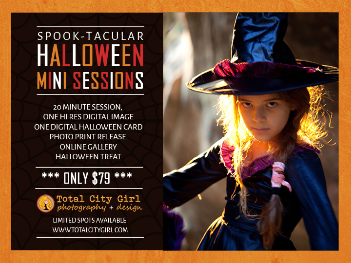 Halloween Mini Sessions 2014 by Total City Girl Photography + Design