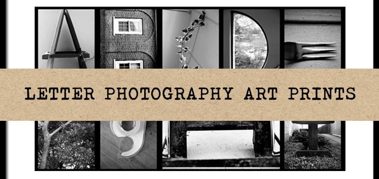 Letter Photography Art Prints