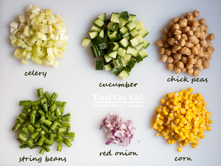 CHick Pea Salad by Total City Girl, Stacey Natal