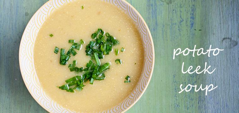 Easy Recipe:   Potato Leek Soup
