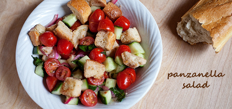 Panzanella Salad With Pickled Red Onions