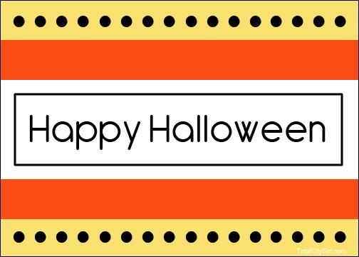 Halloween Card cute-b