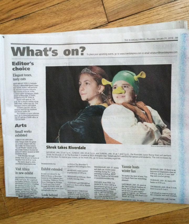 Shrek Jr. - RIverdale Press