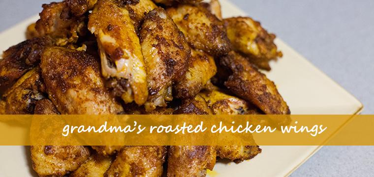 Grandma's Roasted Chicken WIngs