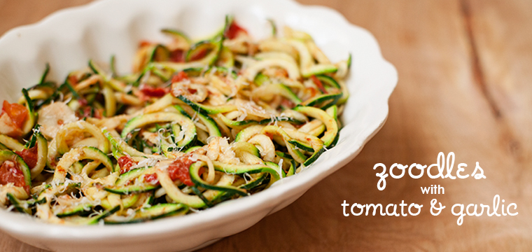 Easy Recipe:  Zoodles with Tomato & Garlic