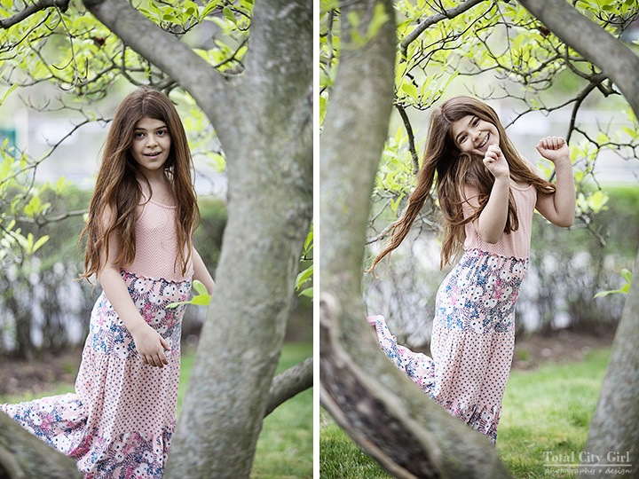 Spring portrait session inspired by a dress, photography by Stacey Natal
