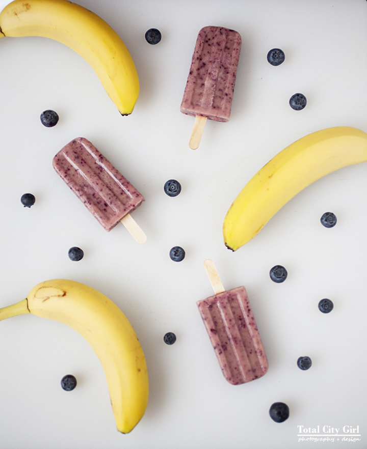 Blueberry Banana Smoothie Ice Pops