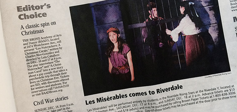 In The Press:  Les Miserables