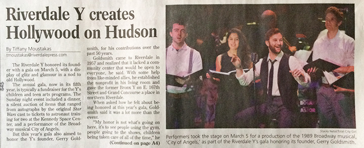 In the press - Riverdale Press, Stacey Natal, RRS Broadway Gala